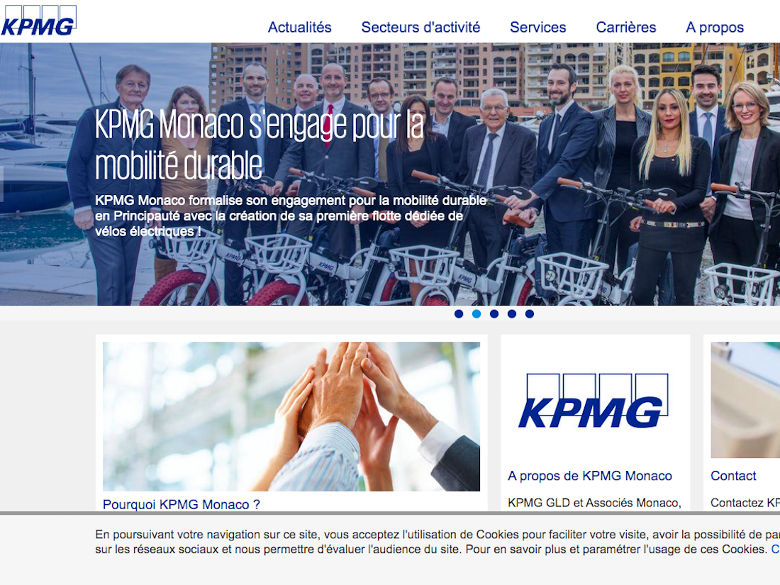 KPMG MONACO Adobe Website management Baccana Digital HP teaser