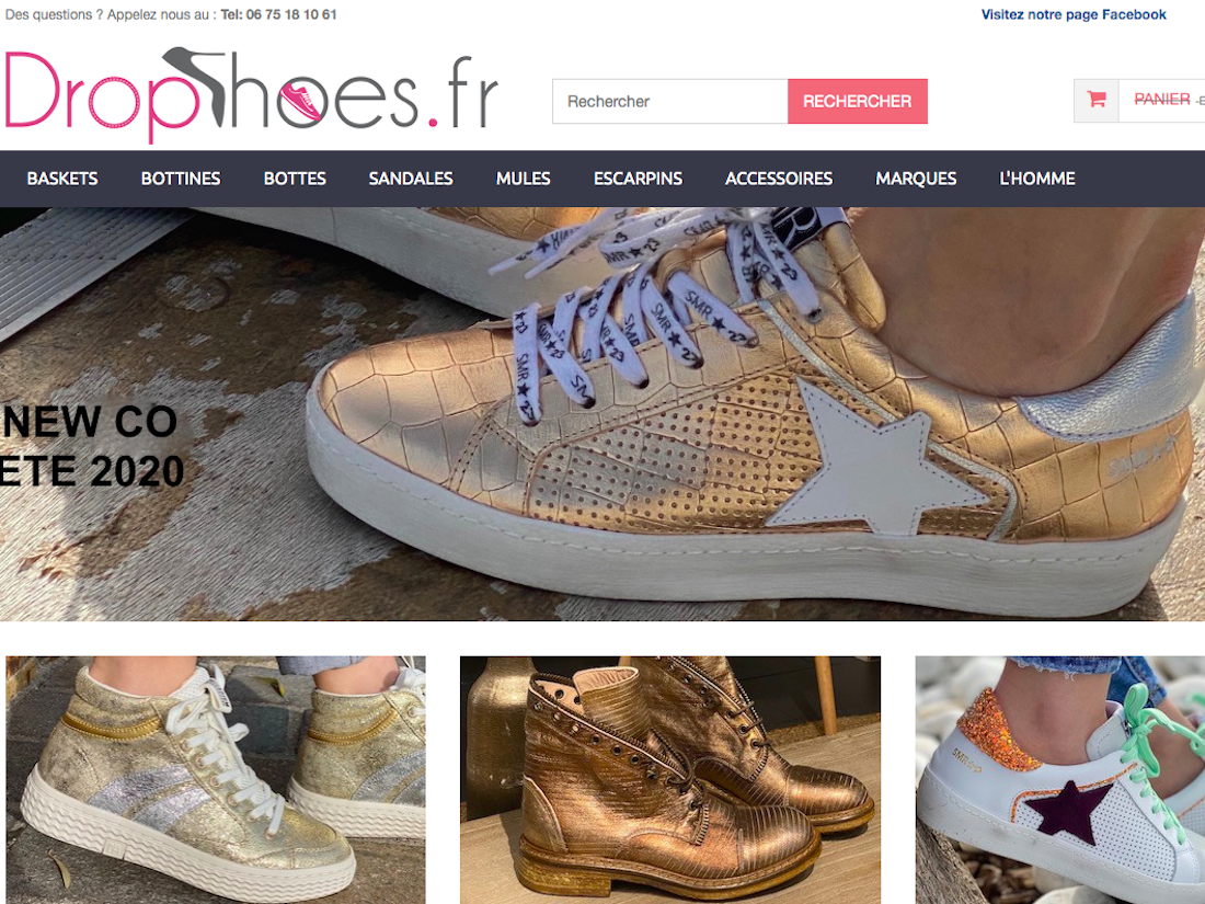Prestashop Shoes ecommerce Baccana Monaco teaser